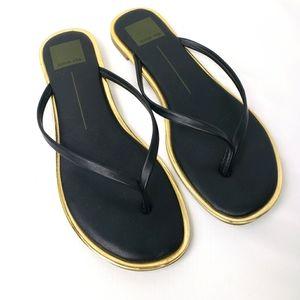 DV Dolce Vita Black and Gold Sandals